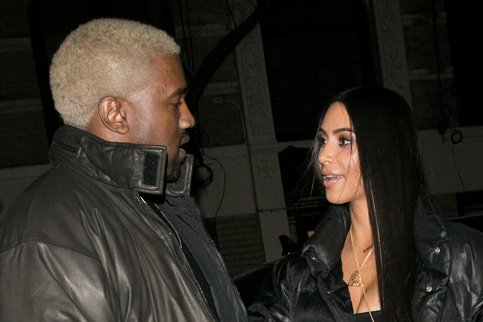 Kim Kardashian and Kanye West have welcomed their third child via a surrogate [Photo: Getty]