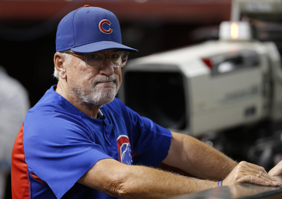 If his son is to be believed, Joe Maddon's time in Chicago is limited. (AP Photo)