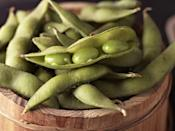 """<p>""""This is a great option for a filling snack since it has both protein and fiber. It's also a <strong>complete source of plant-based protein</strong>, which provides all the essential amino acids our bodies only obtain through food,"""" says Zhu. One cup of shelled edamame only contains <a href=""""https://fdc.nal.usda.gov/fdc-app.html#/food-details/784302/nutrients"""" rel=""""nofollow noopener"""" target=""""_blank"""" data-ylk=""""slk:188 calories"""" class=""""link rapid-noclick-resp"""">188 calories</a>. Sprinkle on a bit of <a href=""""https://www.goodhousekeeping.com/health/diet-nutrition/a33321819/coconut-aminos-benefits/"""" rel=""""nofollow noopener"""" target=""""_blank"""" data-ylk=""""slk:coconut aminos"""" class=""""link rapid-noclick-resp"""">coconut aminos</a> and toasted sesame seeds for even more flavor.</p>"""