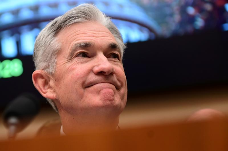 "Federal Reserve Chairman Jerome Powell testifies during a House Financial Services Committee hearing on ""Monetary Policy and the State of the Economy"" in Washington, U.S. July 10, 2019. REUTERS/Erin Scott"