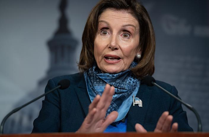 House Speaker Nancy Pelosi (D-Calif.) has also drawn scrutiny for naming scandal-clouded Rep. Donna Shalala (D-Fla.) to a board overseeing corporate bailout money. (Photo: SAUL LOEB/Getty Images)