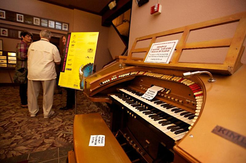 The historic Capitol Theatre in downtown Aberdeen, S.D., is home to the South Dakota Film Festival. Seen here is a restored organ in the lobby Sept. 28, 2012. Organizers say the festival is growing and might have to spread to other locations in town in the next year or two. While it isn't well known to moviegoers, it's becoming a filmmakers' favorite in the Midwest. (AP Photo/Amber Hunt)