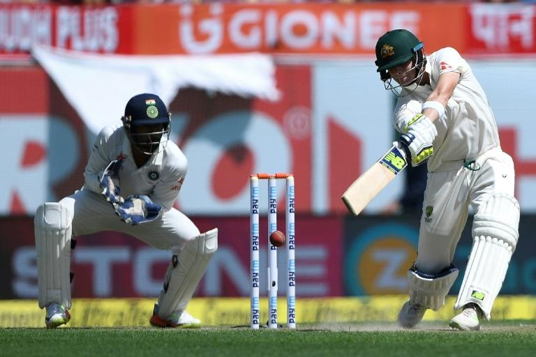 Australia's captain Steve Smith smashed 14 fours during his 173-ball 111 in Dharamsala
