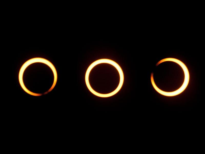 The annular solar eclipse sequence creates a 'ring of fire' around the moon: Getty Images/iStockphoto