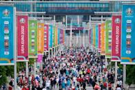 Authorities have warned against large gatherings ahead of the Euro 2020 football final at Wembley, fearful of coronavirus outbreaks