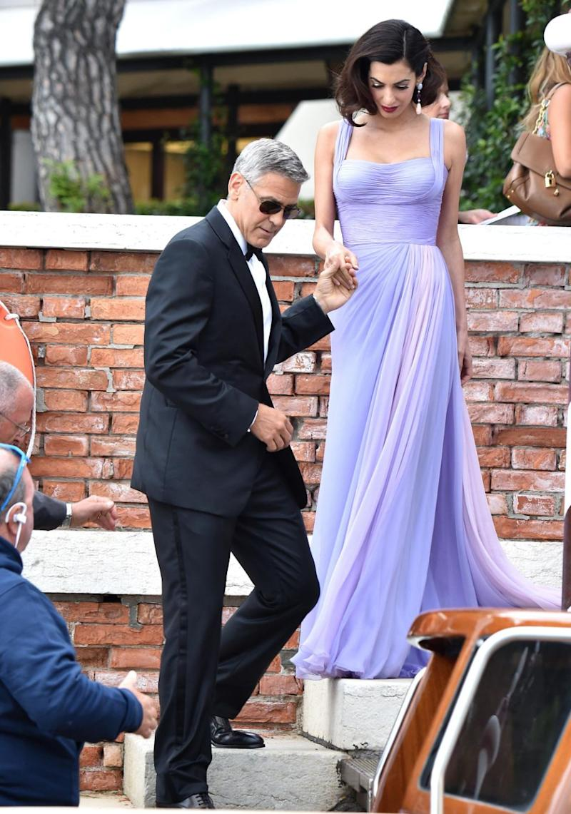 Amal has definitely snapped straight back into shape after giving birth to twins Ella and Alexander. She looked stunning as ever in Venice recently here with George. Source: Getty