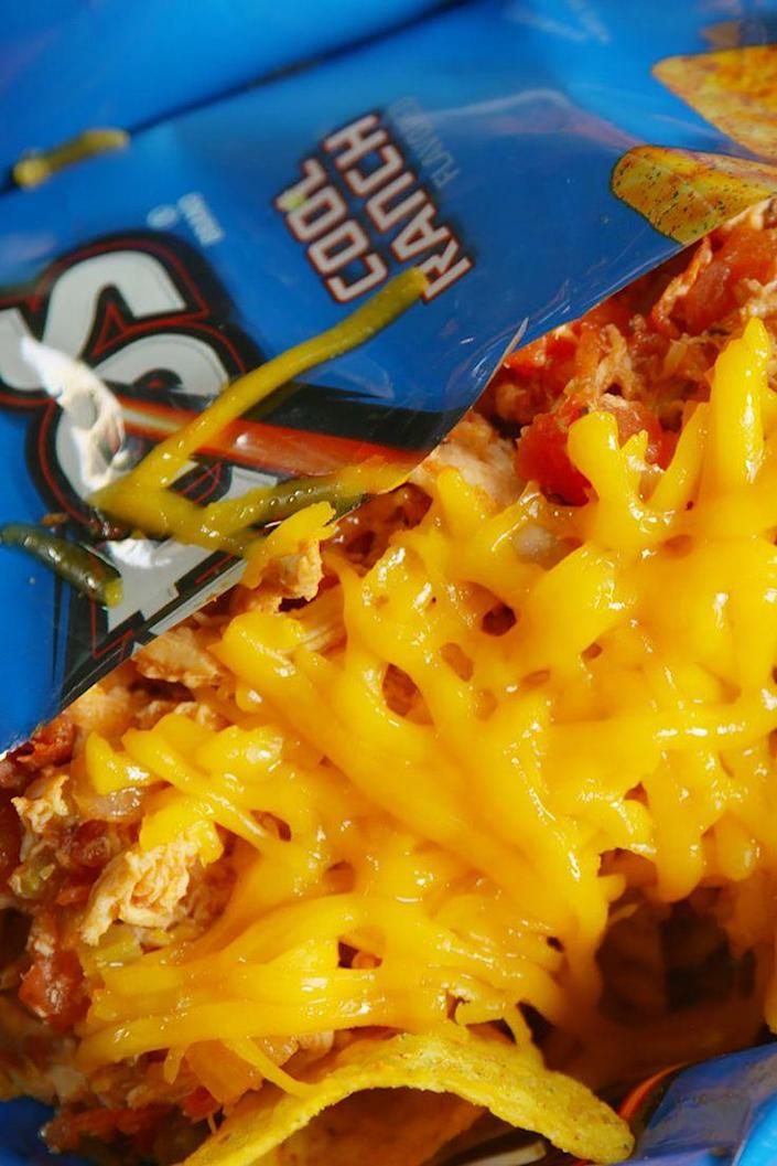 """<p>So much better than nachos, we promise.</p><p>Get the recipe from <a href=""""https://www.delish.com/cooking/recipe-ideas/recipes/a48465/dorito-pie-recipe/"""" rel=""""nofollow noopener"""" target=""""_blank"""" data-ylk=""""slk:Delish"""" class=""""link rapid-noclick-resp"""">Delish</a>.</p>"""