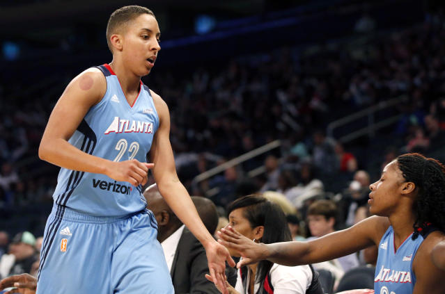 "<a class=""link rapid-noclick-resp"" href=""/wnba/players/5065/"" data-ylk=""slk:Layshia Clarendon"">Layshia Clarendon</a> has accused a Cal athletic department employee of sexual assault. (AP)"