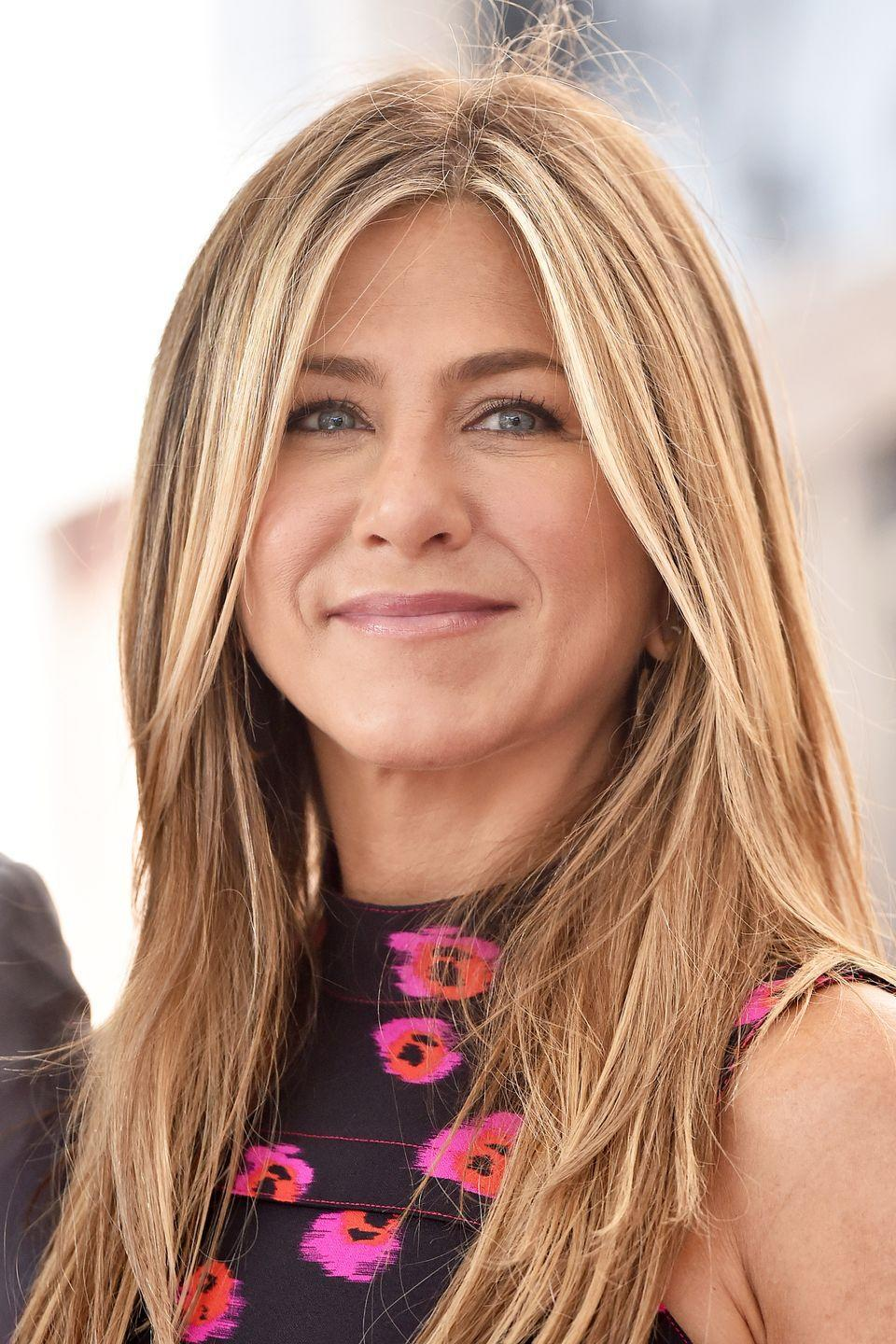 """<p><a href=""""http://www.goodhousekeeping.com/life/a42902/what-jennifer-aniston-eats-in-a-day/"""" rel=""""nofollow noopener"""" target=""""_blank"""" data-ylk=""""slk:Jennifer Aniston"""" class=""""link rapid-noclick-resp"""">Jennifer Aniston</a> has been a warm, golden blonde for many years now. Why mess with a good thing?</p>"""