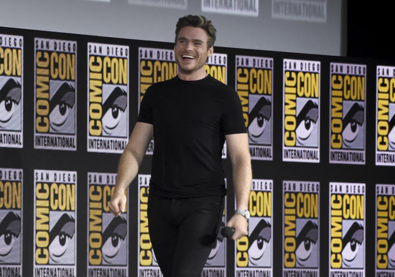 Richard Madden walks on stage at the Marvel Studios panel on day three of Comic-Con International on Saturday, July 20, 2019, in San Diego. (Photo by Chris Pizzello/Invision/AP)