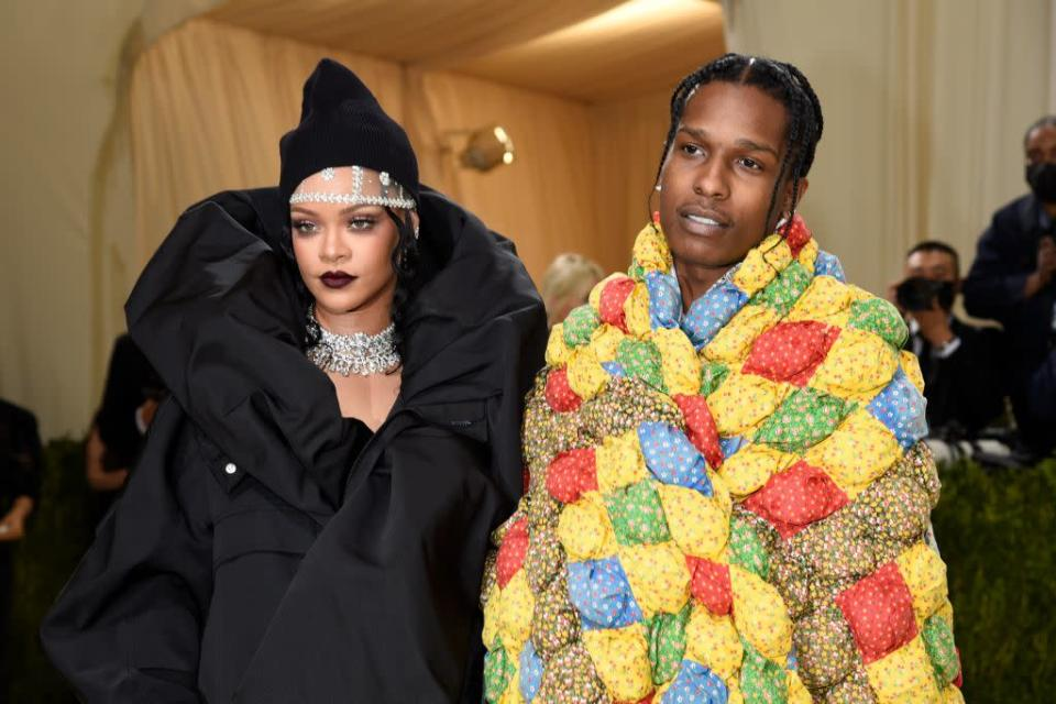 Rihanna and ASAP Rocky on the red carpet at the 2021 Met Gala. - Credit: AP Images