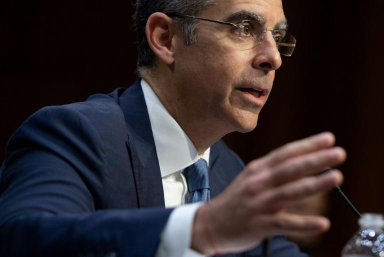 David Marcus, who is heading Facebook's digital currency initiative, testified about the planned Libra digital currency during a Senate Banking Committee hearing (AFP Photo/SAUL LOEB)