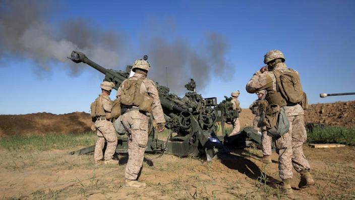 U.S. Marines in Iraq fire a howitzer at an ISIS infiltration route, March 18, 2016. (Photo: Cpl. Andre Dakis/U.S. Marine Corps)