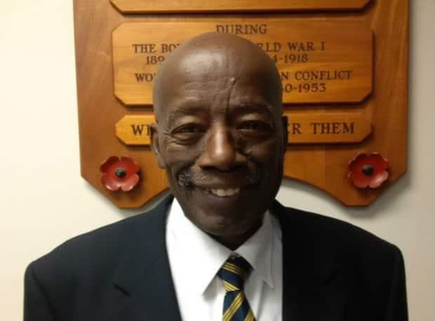 William Toussaint, 74, says the war memorial should not be used as a backdrop for protests.