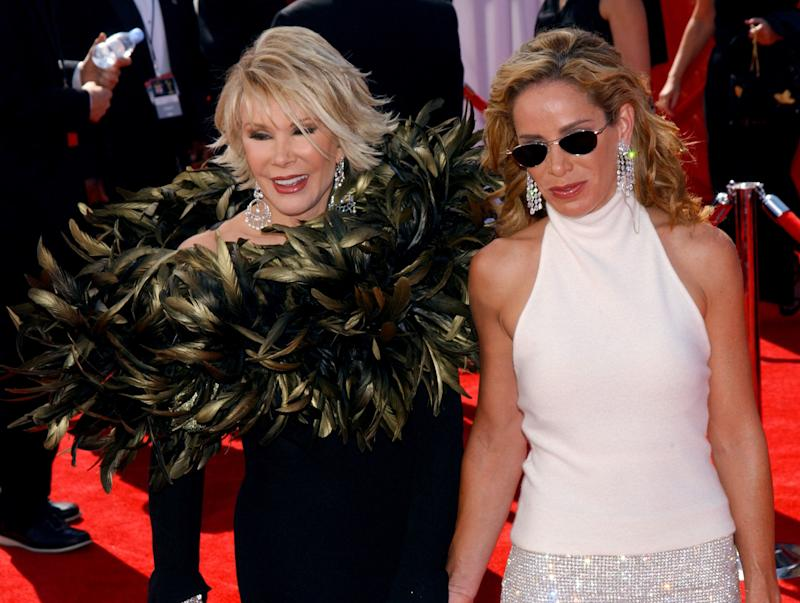 Joan and Melissa Rivers during the 55th Annual Primetime Emmy Awards in 2003. (Albert L. Ortega/WireImage)