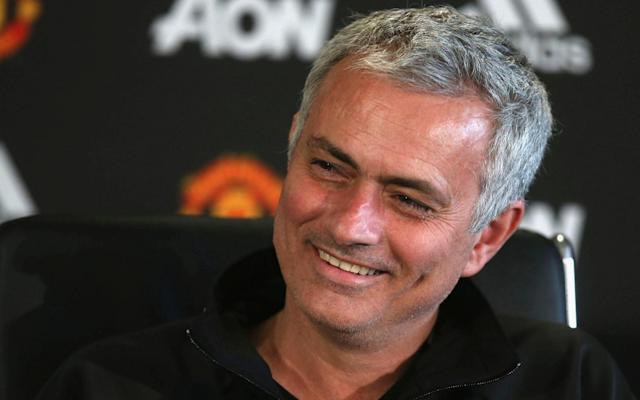 <span>Mourinho was in a relaxed mood on Friday</span> <span>Credit: getty images </span>