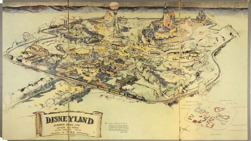 Walt Disney's original hand-drawn map of Disneyland up for auction