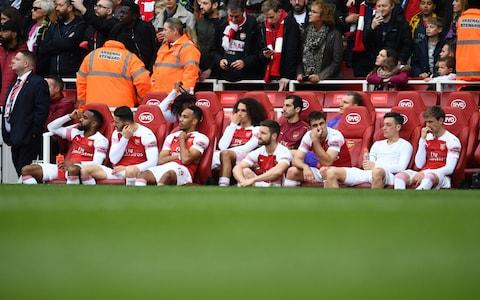 Arsenal's players - Credit: getty images