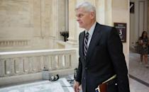 PHOTO: Senator Bill Cassidy arrives for a vote in the Senate on Capitol Hill in Washington, D.C., June 10, 2021. (Evelyn Hockstein/Reuters)