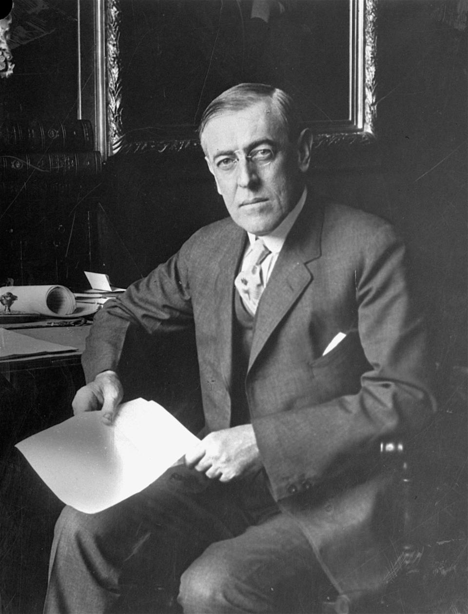 Woodrow Wilson, el presidente número 28 de EEUU. (AP Photo)
