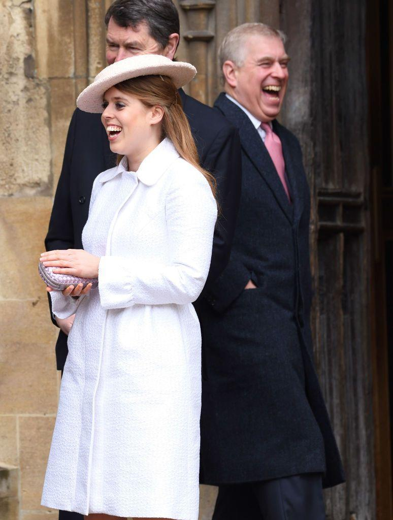 <p>Princess Beatrice and her dad attend the Easter church service at St. George's Chapel.</p>