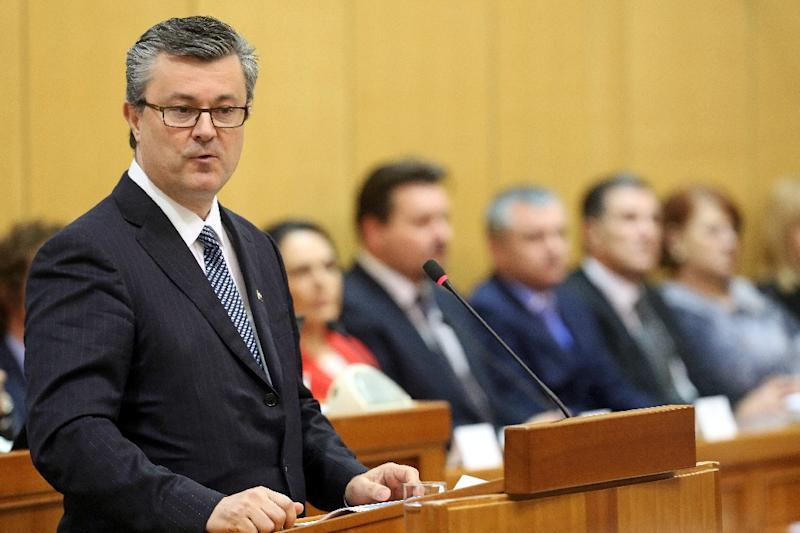 Croatian Prime Minister Tihomir Oreskovic lost a vote of confidence last week (AFP Photo/)