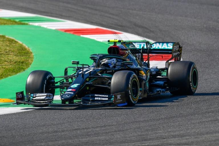 Valtteri Bottas topped both of Friday's practice sessions at Mugello, ahead of Mercedes teammate Lewis Hamilton