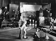 <p>Temple shown acting alongside other children in Charles Lamont's <em>The Kid in Hollywood</em>, another in the series of <em>Baby Burlesks</em>.</p>