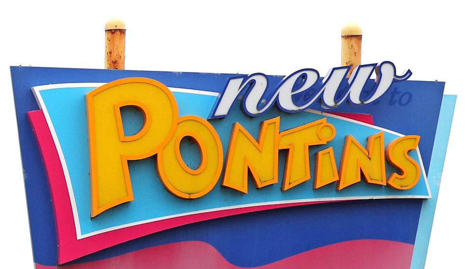 File photo dated 5/11/2020 of signage for Pontins. The owner of Pontins has entered into a legal agreement with the human rights watchdog after a whistleblower revealed it was using an
