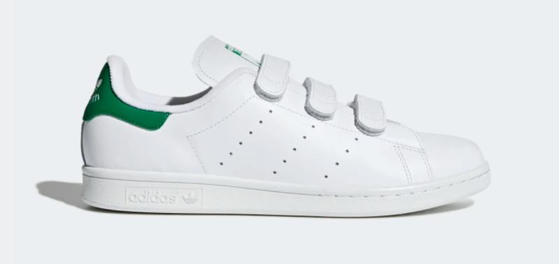 Adidas Women's Stan Smith Shoes in Cloud White and Green