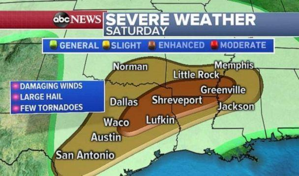 PHOTO: Northeast Texas is bracing for severe weather tonight. (ABC News)