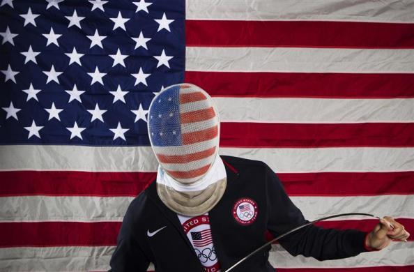 Fencer Alexander Massialas poses for a portrait during the 2012 U.S. Olympic Team Media Summit in Dallas, May 13, 2012.