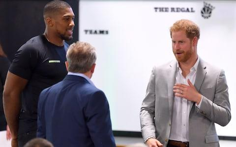 Anthony Joshua and Prince Harry, Duke of Sussex attend the launch of Made by Sport at Black Prince Trust on June 12, 2019 in London, England. Made by Sport is a new campaign bringing together a coalition of charities supporting disadvantaged young people through sport. - Credit: Karwai Tang/Karwai Tang