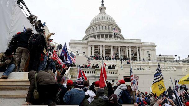 PHOTO: Protesters gather outside the U.S. Capitol Building on Jan. 06, 2021, in Washington, D.C. (Tasos Katopodis/Getty Images)