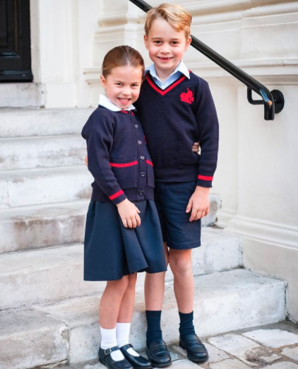 Image of Princess Charlotte Prince George first day of school St Thomas Batterseas