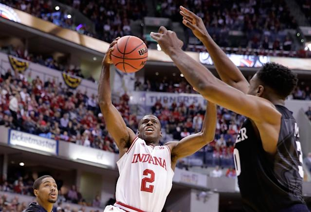 <p><strong>41. Indiana</strong><br> Trajectory: Down. Hoosiers haven't cracked the top 40 since 2013-14, although they're better off than the bottom-out of 2014-15 (61st). </p>