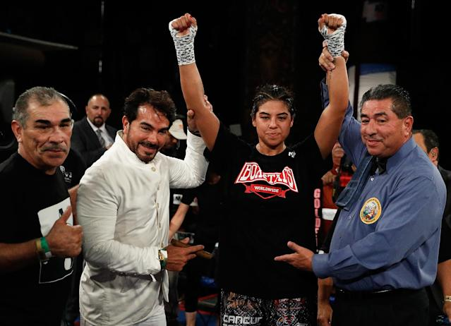 Maricela Cornejo overcame many problems in her life to become a top boxer. (Getty Images)