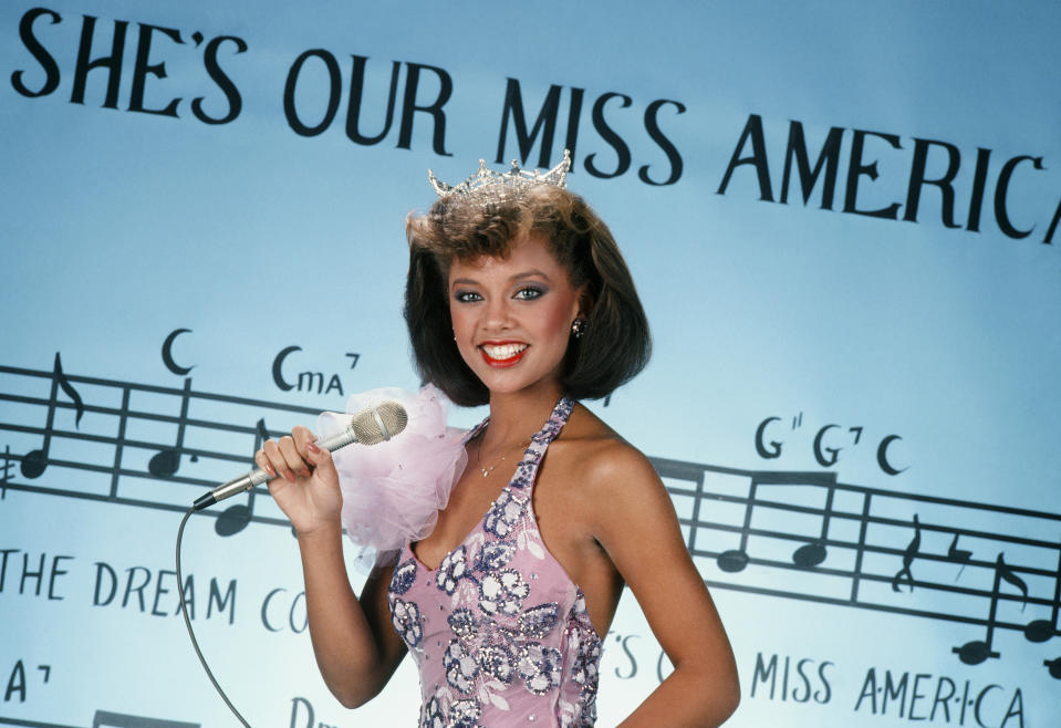 MISS AMERICA PAGEANT 1984 -- Pictured: Miss America winner Vanessa Williams  -- (Photo by: NBC/NBCU Photo Bank)
