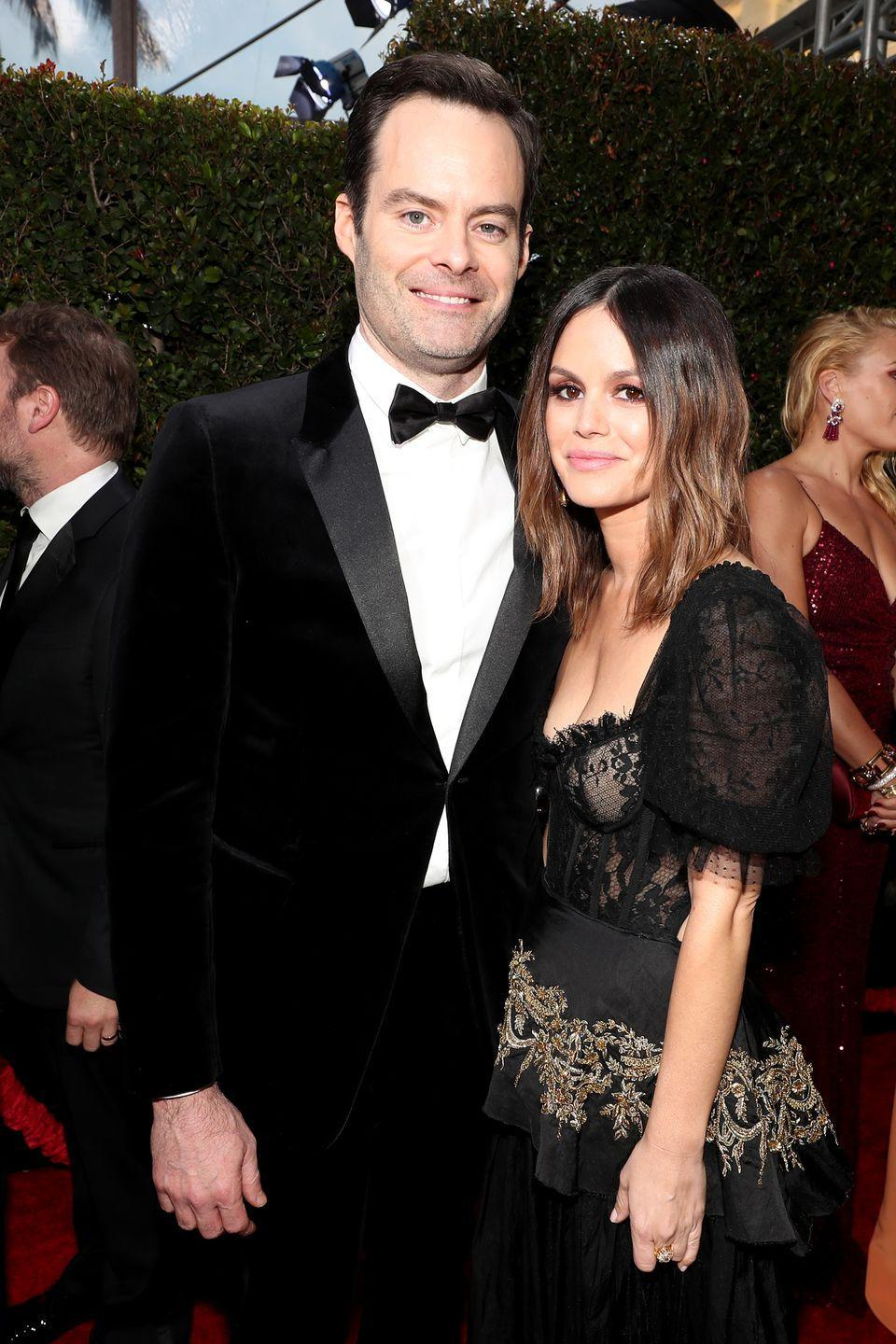 "<p>Rachel and Bill shocked everyone when they attended this year's Golden Globe Awards together and confirmed their relationship, but the pair wasn't meant to last—six months later, <a href=""https://people.com/tv/bill-hader-and-rachel-bilson-split-source/"" rel=""nofollow noopener"" target=""_blank"" data-ylk=""slk:People"" class=""link rapid-noclick-resp""><em>People</em> </a>confirmed they ""amicably split."" Ho hum.</p>"