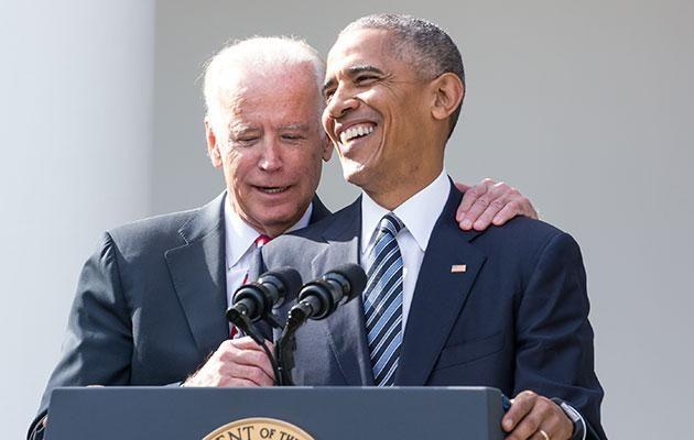 The world has fallen for the bromance between Obama and Joe. Source: Getty Images.