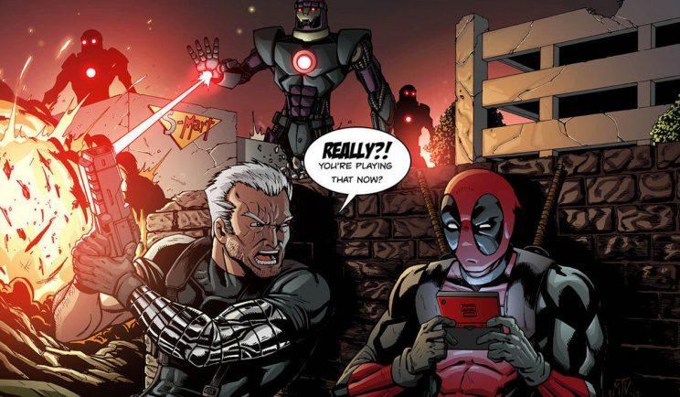 Deadpool and Cable are clearly partners in crime - Credit: Marvel