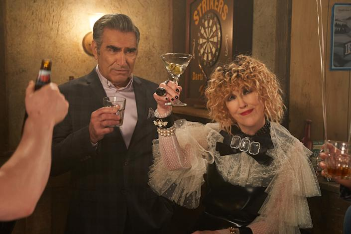 """Eugene Levy and Catherine O'Hara in 'Schitt's Creek' <span class=""""copyright"""">Pop TV</span>"""