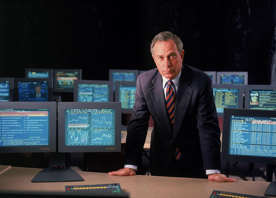 Bloomberg L.P. founder and CEO Michael Bloomberg poses for a portrait November 2, 1998 in the training room at his offices in New York City. (Photo by Chris Casaburi/Getty Images)