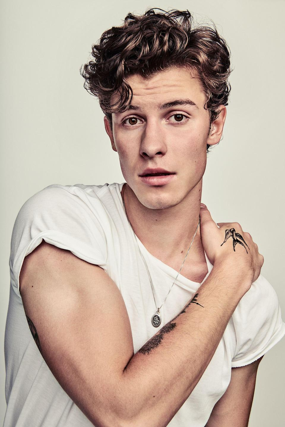 Shawn Mendes. Image via RollingStone. Photography by Ruven Afanador.