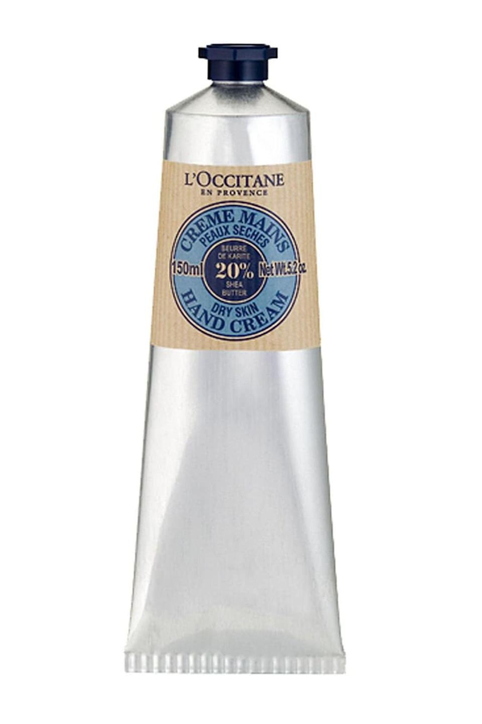 """<p><strong>L'Occitane</strong></p><p>nordstrom.com</p><p><strong>$29.00</strong></p><p><a href=""""https://go.redirectingat.com?id=74968X1596630&url=https%3A%2F%2Fwww.nordstrom.com%2Fs%2Floccitane-shea-butter-hand-cream%2F2885807&sref=https%3A%2F%2Fwww.elle.com%2Ffashion%2Fshopping%2Fg34764690%2Feco-friendly-gift-ideas%2F"""" rel=""""nofollow noopener"""" target=""""_blank"""" data-ylk=""""slk:Shop Now"""" class=""""link rapid-noclick-resp"""">Shop Now</a></p><p>After months of vigorously washing up, a luxurious hand cream is a no-brainer gift. This one in particular won <a href=""""https://www.goodhousekeeping.com/beauty-products/a29459394/best-sustainable-packaging-brands/"""" rel=""""nofollow noopener"""" target=""""_blank"""" data-ylk=""""slk:a Good Housekeeping award"""" class=""""link rapid-noclick-resp"""">a Good Housekeeping award</a> for its sustainable, recyclable packaging.</p>"""
