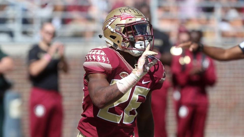 Asante Samuel reacts at Florida State