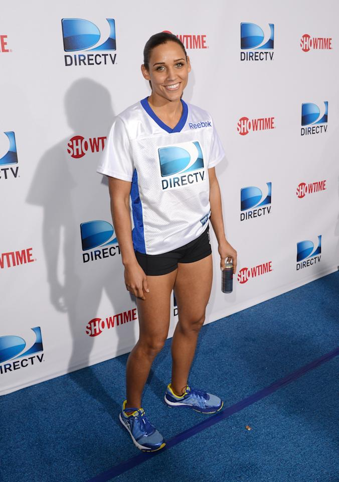 NEW ORLEANS, LA - FEBRUARY 02:  Olympian Lolo Jones attends DIRECTV'S Seventh Annual Celebrity Beach Bowl at DTV SuperFan Stadium at Mardi Gras World on February 2, 2013 in New Orleans, Louisiana.  (Photo by Jason Merritt/Getty Images For DirecTV)