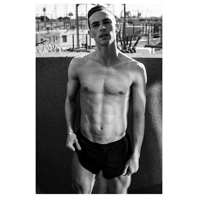"<p>adaripp: Very cool shot from the amazing @victordemarchelier for @interviewmag that I have titled ""me toning it down"" (Photo via Instagram/adaripp) </p>"