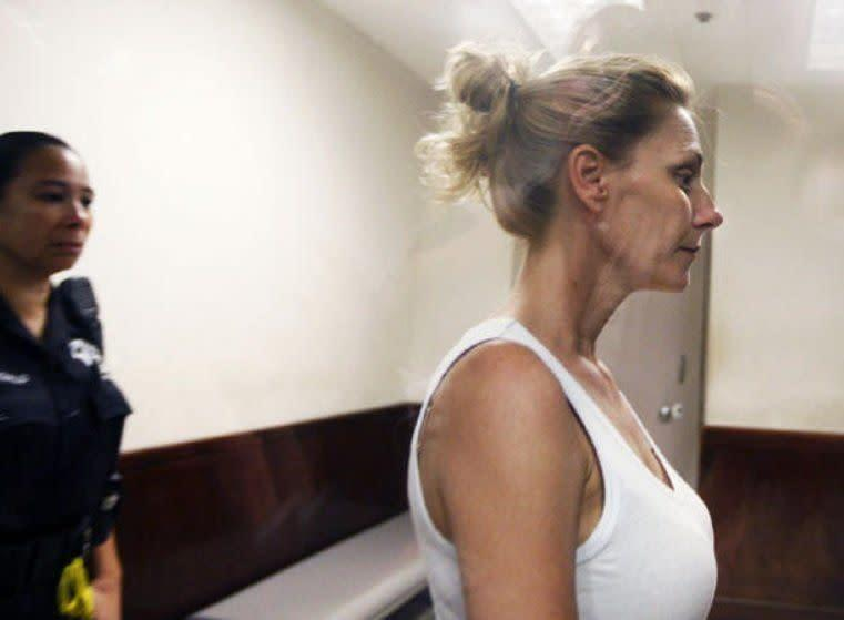 Amanda Hayes enters court after her arrest in Texas. (Photo: Associated Press)