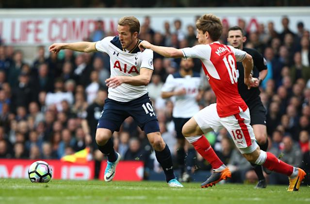 Harry Kane in action for Spurs